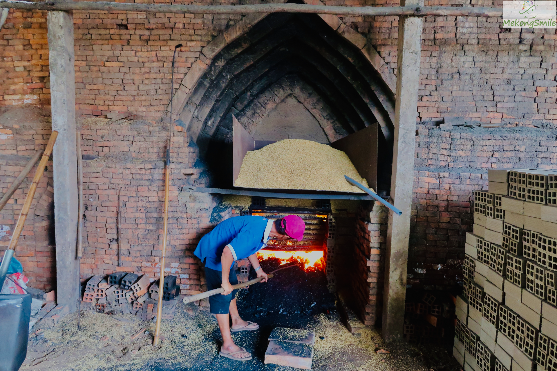 A traditional brick factory in Ben Tre - Ben Tre tour from Can Tho