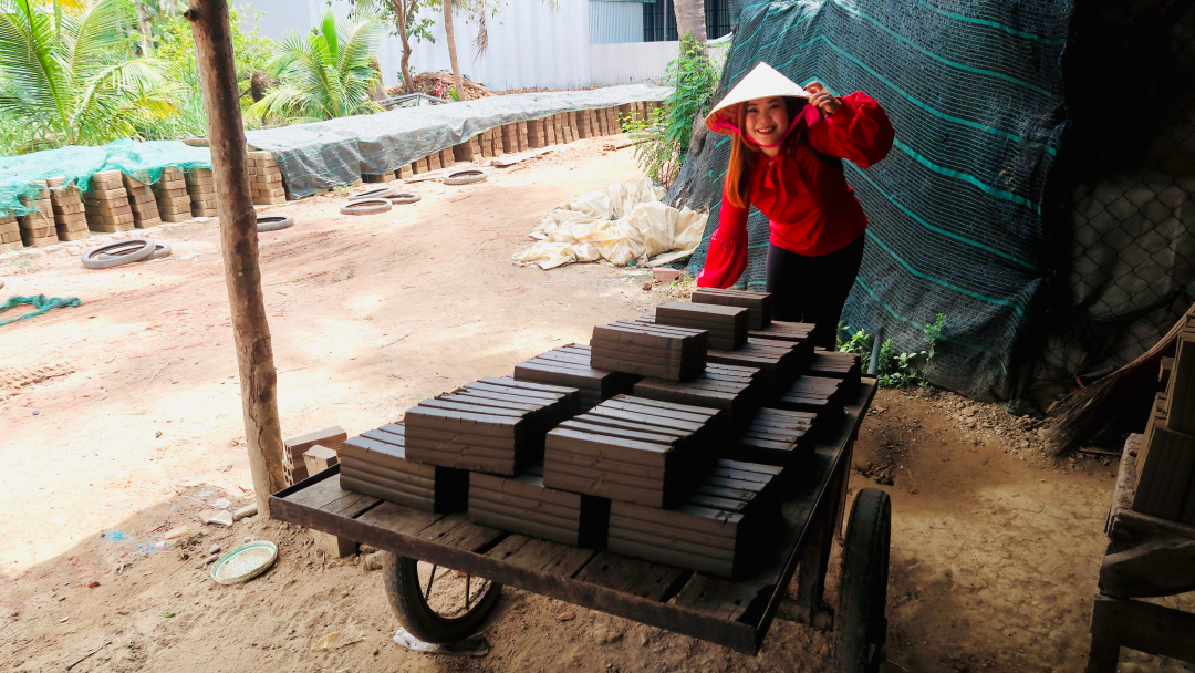 Try making bricks in a brick factory
