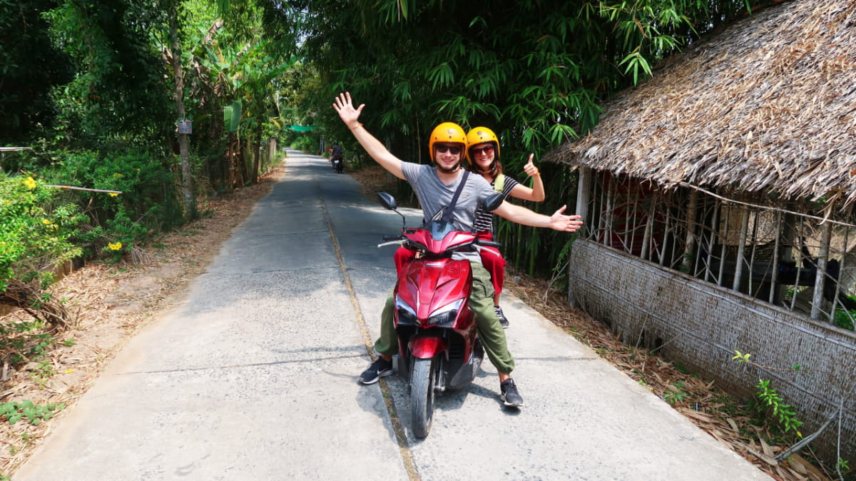 Can Tho motorbike tour in Mekong delta