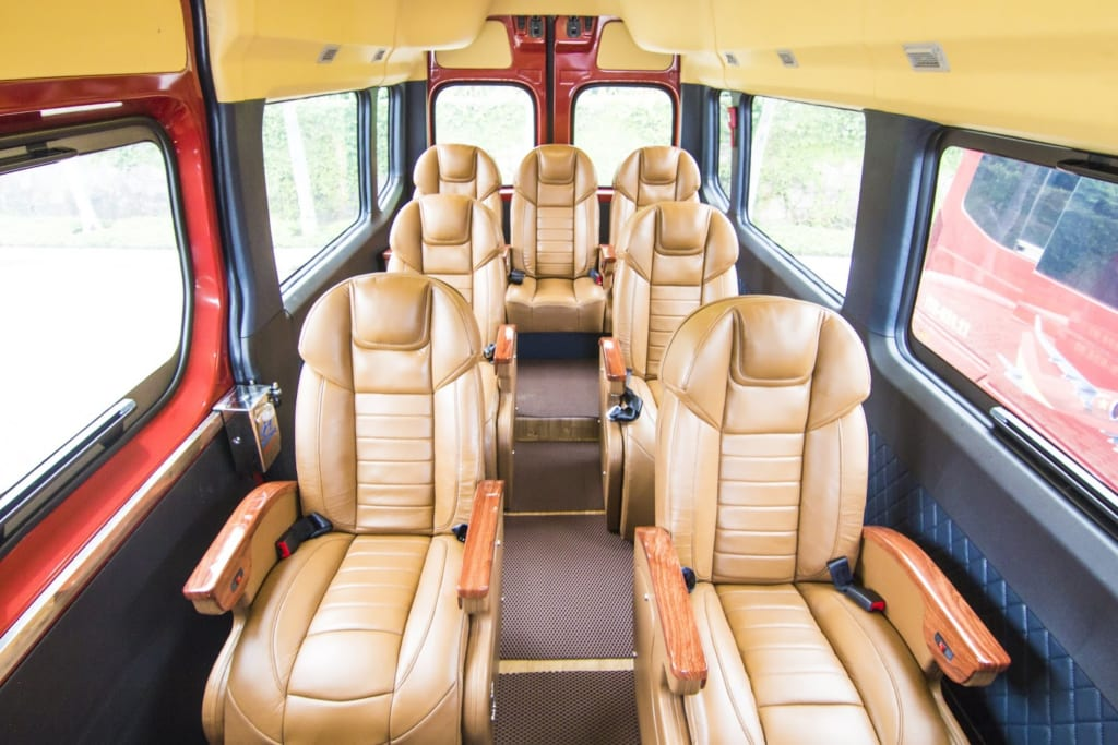 Inside a typical limousine