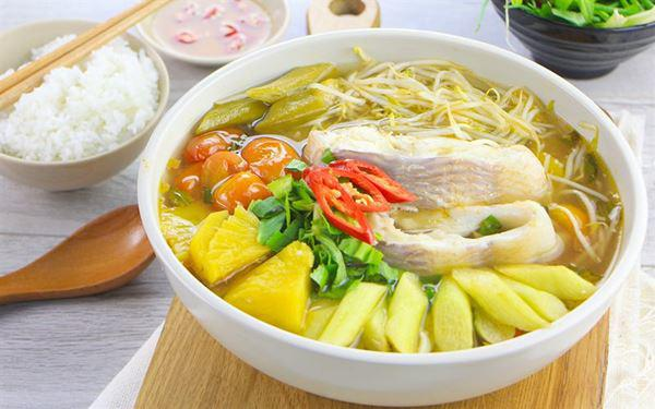 Canh chua - sweet sour soup - best describe a Southern meal