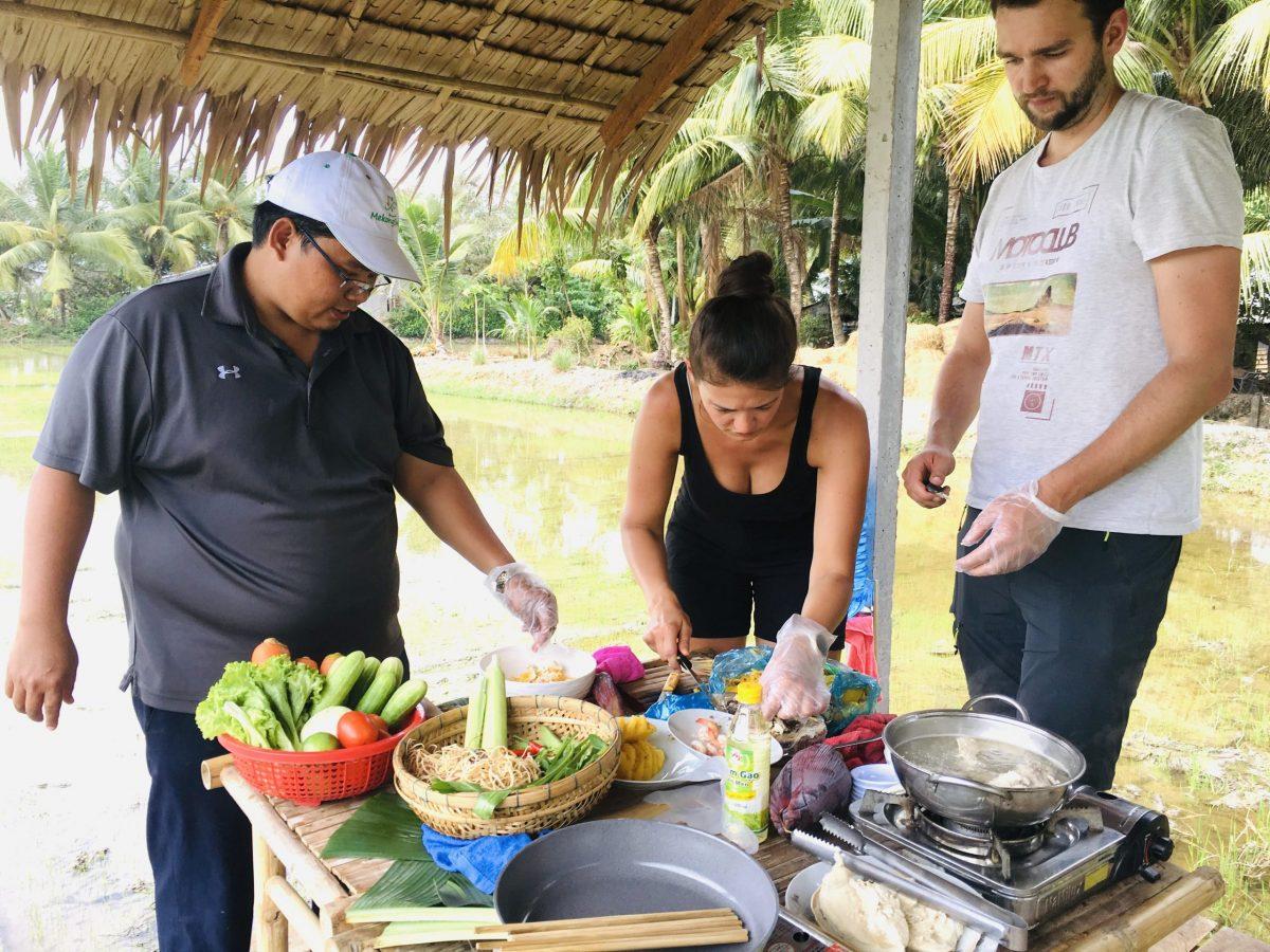 Mekong delta cooking class tour