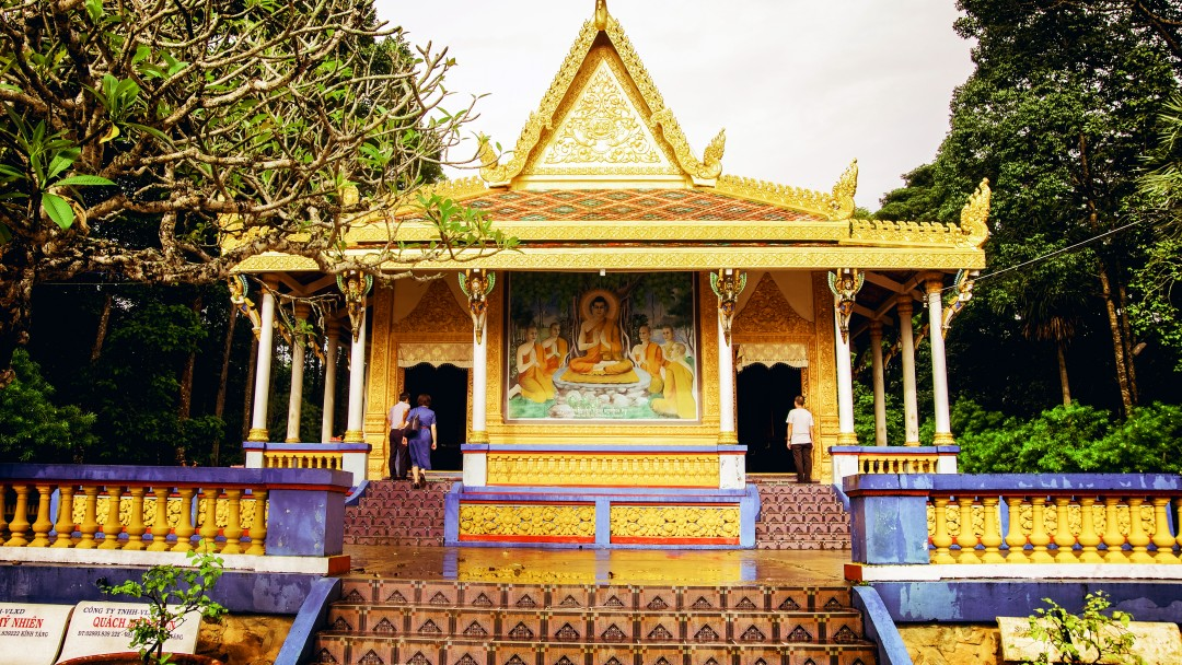 Bat pagoda in Soc Trang