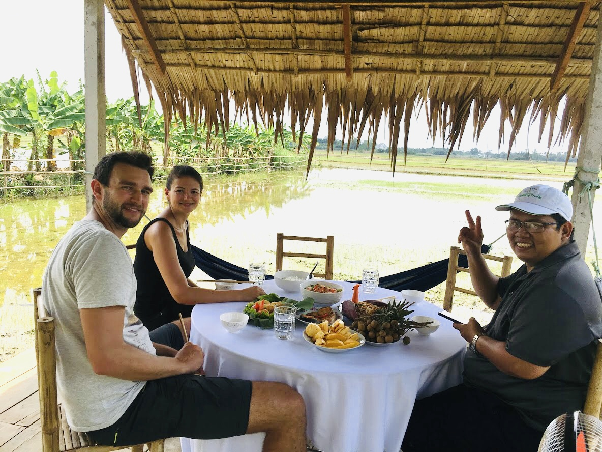 Enjoy Mekong authentic lunch meal