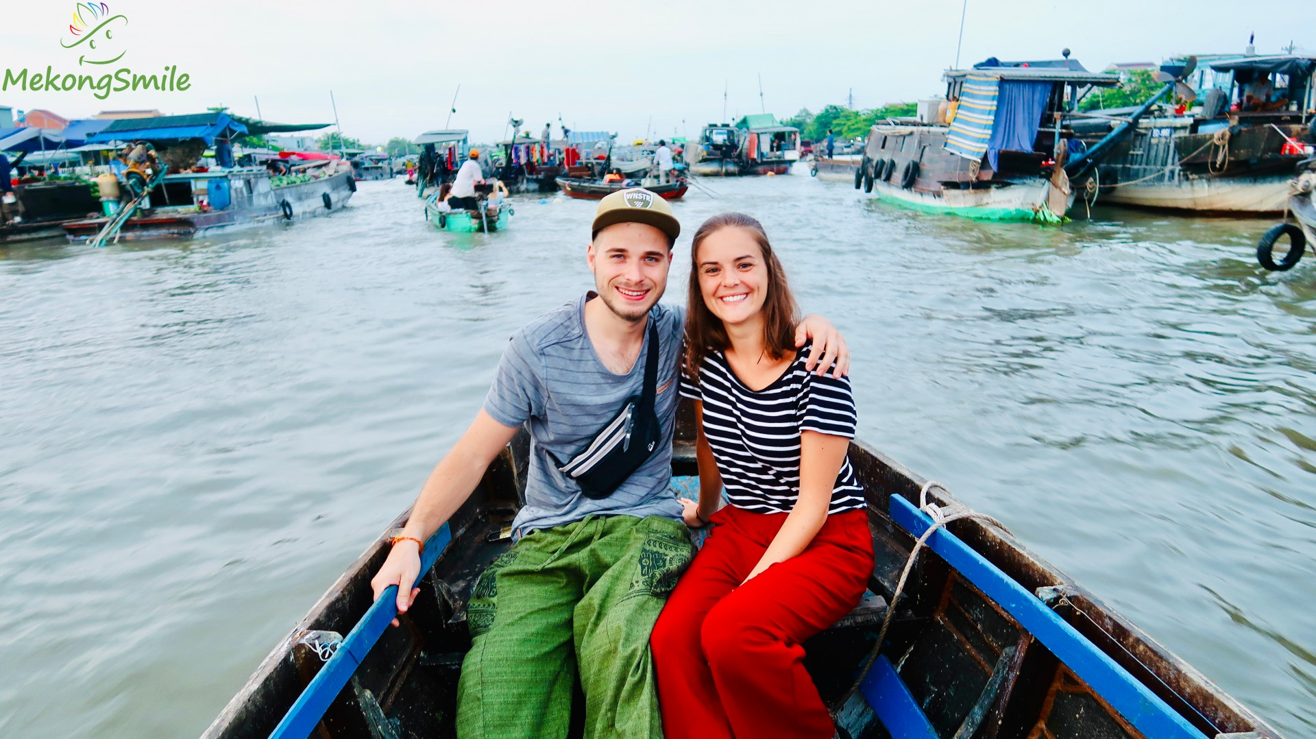 Check in Cai Rang floating market - Can Tho floating market tour