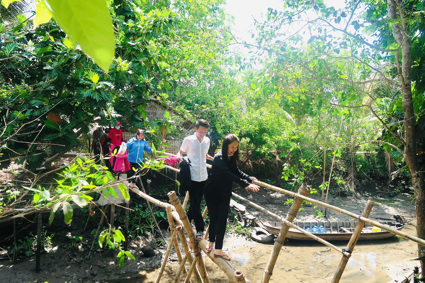Try monkey bridge in Con Son island