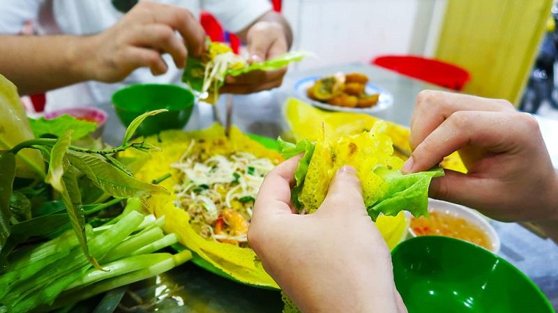 Yummy crispy Vietnamese pancake