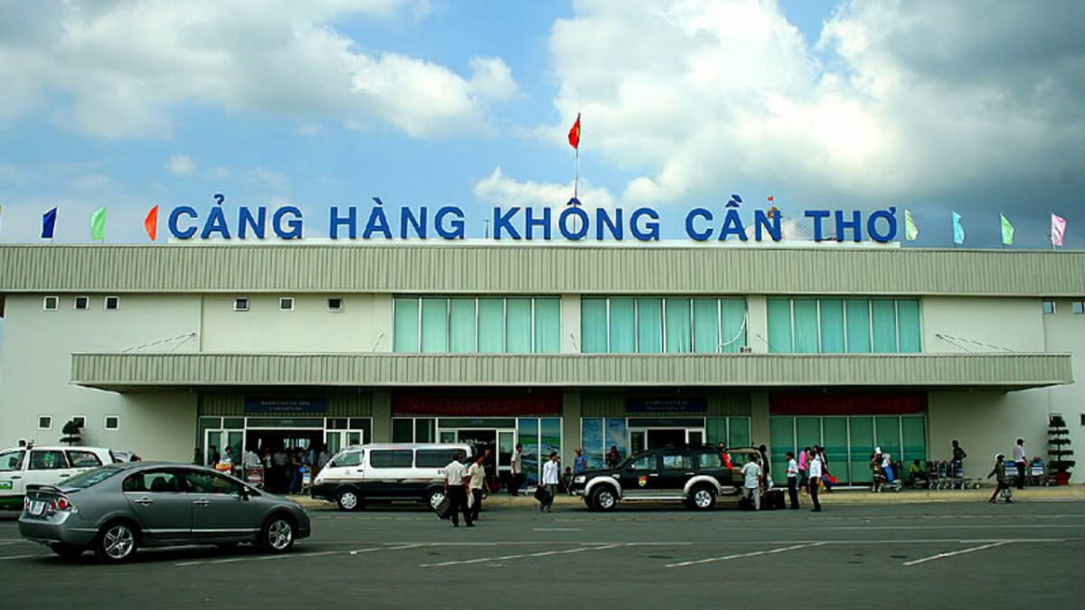 Can Tho Airport before becoming an international airport