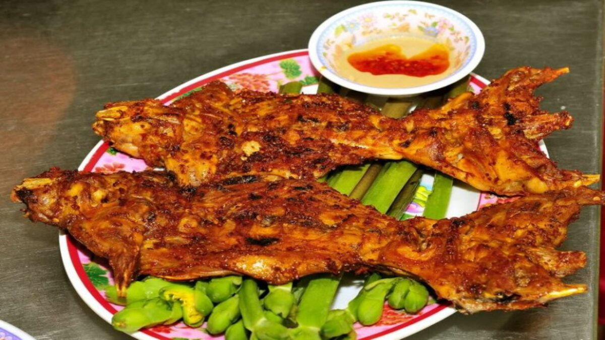 Grilled rice mice in Vinh Long