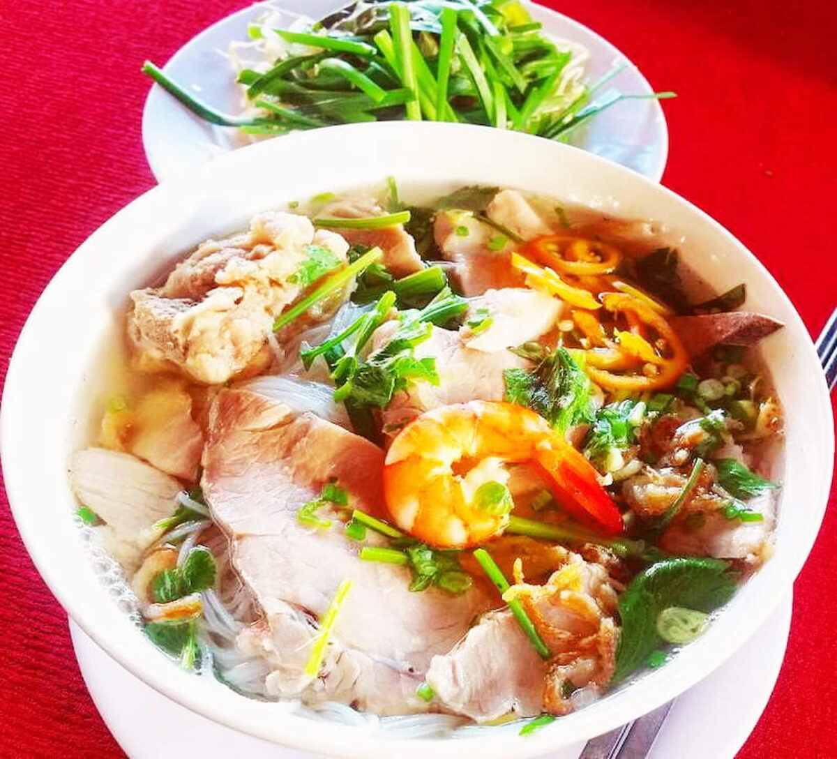 My Tho clear rice noodle soup in Tien Giang