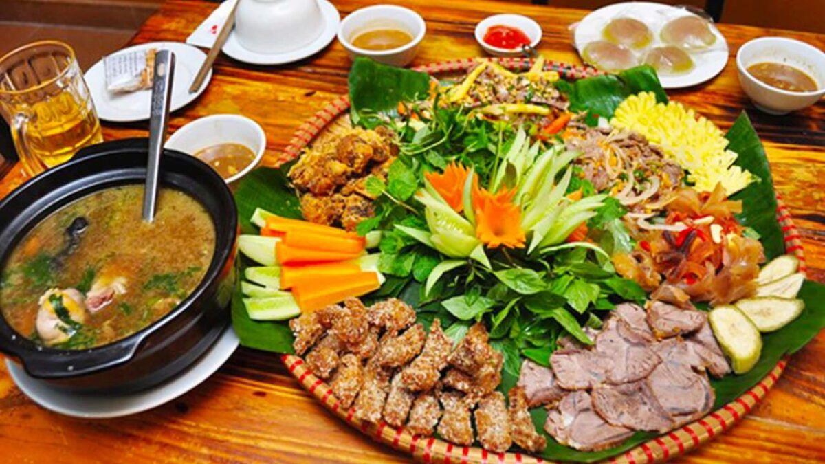 Seven beef dishes in Chau Doc