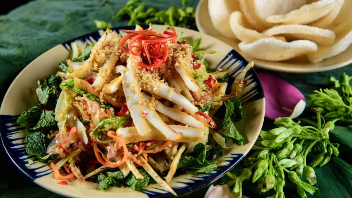 Coconut tuber salad - a simple dish made from coconut tuber